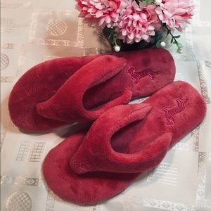 Pink Peter Alexander towelling slippers 💖 AUS 7/8